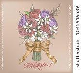eelgant vintage wedding... | Shutterstock .eps vector #1045916539