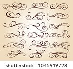 set of decorative elements.... | Shutterstock .eps vector #1045919728