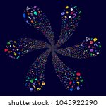 colorful secrecy symbols... | Shutterstock .eps vector #1045922290