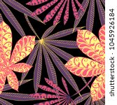 tropical seamless pattern with... | Shutterstock .eps vector #1045926184