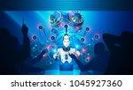 artificial intelligence teaches ... | Shutterstock . vector #1045927360