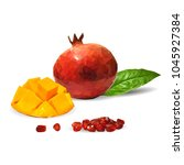 fresh garnet  nutritious and... | Shutterstock .eps vector #1045927384