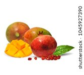 fresh garnet  nutritious and... | Shutterstock .eps vector #1045927390