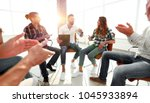 creative team applauding the... | Shutterstock . vector #1045933894
