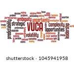 vuca word cloud concept on...   Shutterstock . vector #1045941958