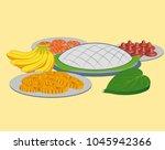 traditional sri lankan sinhala...   Shutterstock .eps vector #1045942366