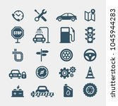 automobile flat vector icons... | Shutterstock .eps vector #1045944283