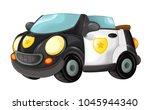 cartoon police car cabriolet on ... | Shutterstock . vector #1045944340