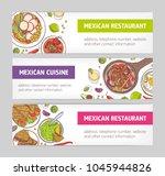 bundle of horizontal web... | Shutterstock .eps vector #1045944826