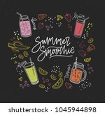 summer smoothie handwritten... | Shutterstock .eps vector #1045944898