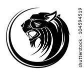 lion circle tribal tattoo art. | Shutterstock .eps vector #104594519