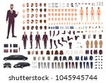 elegant man dressed in business ... | Shutterstock .eps vector #1045945744