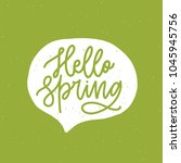 hello spring phrase handwritten ... | Shutterstock .eps vector #1045945756