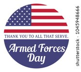 armed forces day. thank you to... | Shutterstock . vector #1045948666