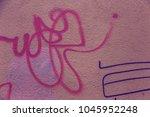 beautiful street art graffiti.... | Shutterstock . vector #1045952248