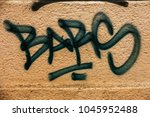 beautiful street art graffiti.... | Shutterstock . vector #1045952488