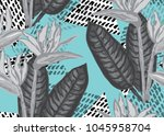 elegant seamless pattern with... | Shutterstock . vector #1045958704