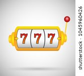 slot machine  icon. vector... | Shutterstock .eps vector #1045960426