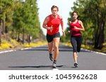 running fitness couple of...   Shutterstock . vector #1045962628