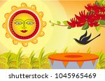 the dawn of the sinhala   tamil ...   Shutterstock .eps vector #1045965469