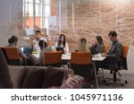 startup business  young... | Shutterstock . vector #1045971136