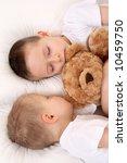 two sleeping children in white... | Shutterstock . vector #10459750