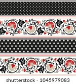 colorful  flower horizontal... | Shutterstock .eps vector #1045979083