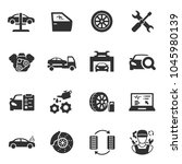 vehicle service  monochrome... | Shutterstock .eps vector #1045980139