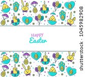 easter holiday background  card ... | Shutterstock .eps vector #1045982908
