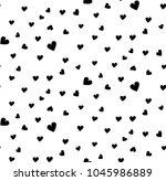 seamless  pattern  heart  | Shutterstock .eps vector #1045986889