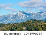 rocky mountains. vancouver.... | Shutterstock . vector #1045990189