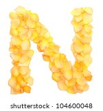 orange rose petals forming... | Shutterstock . vector #104600048