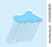white clouds with rain isolated ... | Shutterstock .eps vector #1046003830