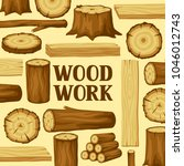 background with wood logs ... | Shutterstock .eps vector #1046012743