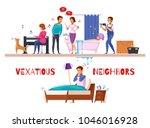 neighbors relations cartoon...   Shutterstock .eps vector #1046016928