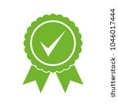 approved certified icon.... | Shutterstock .eps vector #1046017444
