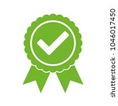 approved certified icon.... | Shutterstock .eps vector #1046017450