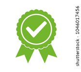 approved certified icon.... | Shutterstock .eps vector #1046017456