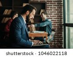 advertising manager works with... | Shutterstock . vector #1046022118