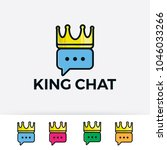 king chat logo illustration...