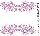 floral frame. vector... | Shutterstock .eps vector #1046033524