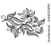 floral pattern. vector... | Shutterstock .eps vector #1046033890