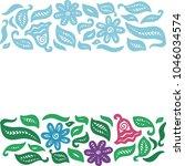 floral background. vector... | Shutterstock .eps vector #1046034574