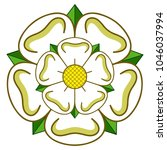 Stock vector vector east riding of yorkshire heraldic rose 1046037994