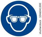 mandatory sign vector   wear... | Shutterstock .eps vector #1046041300