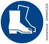mandatory sign vector   wear... | Shutterstock .eps vector #1046041324