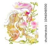 gold fish kissing the lover... | Shutterstock .eps vector #1046048500