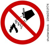 do not extinguish with water...   Shutterstock .eps vector #1046051974