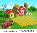 vector illustration of a farm... | Shutterstock .eps vector #1046058289