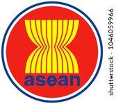asean flag emblem vector.... | Shutterstock .eps vector #1046059966